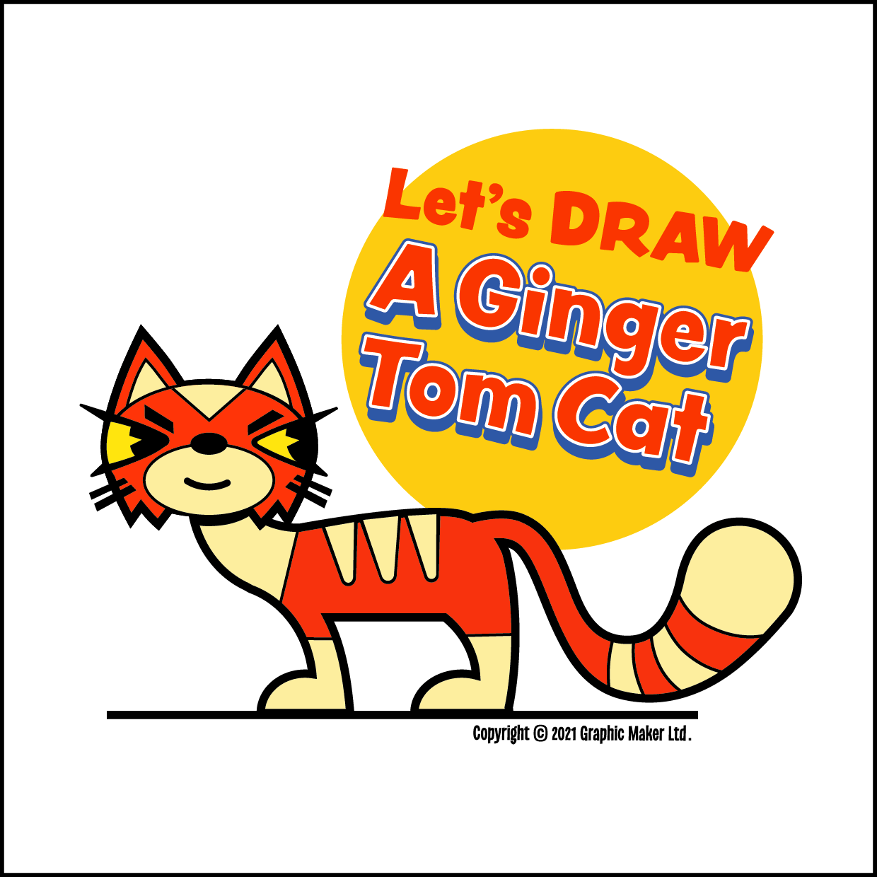 Let's DRAW A Ginger Tom Cat