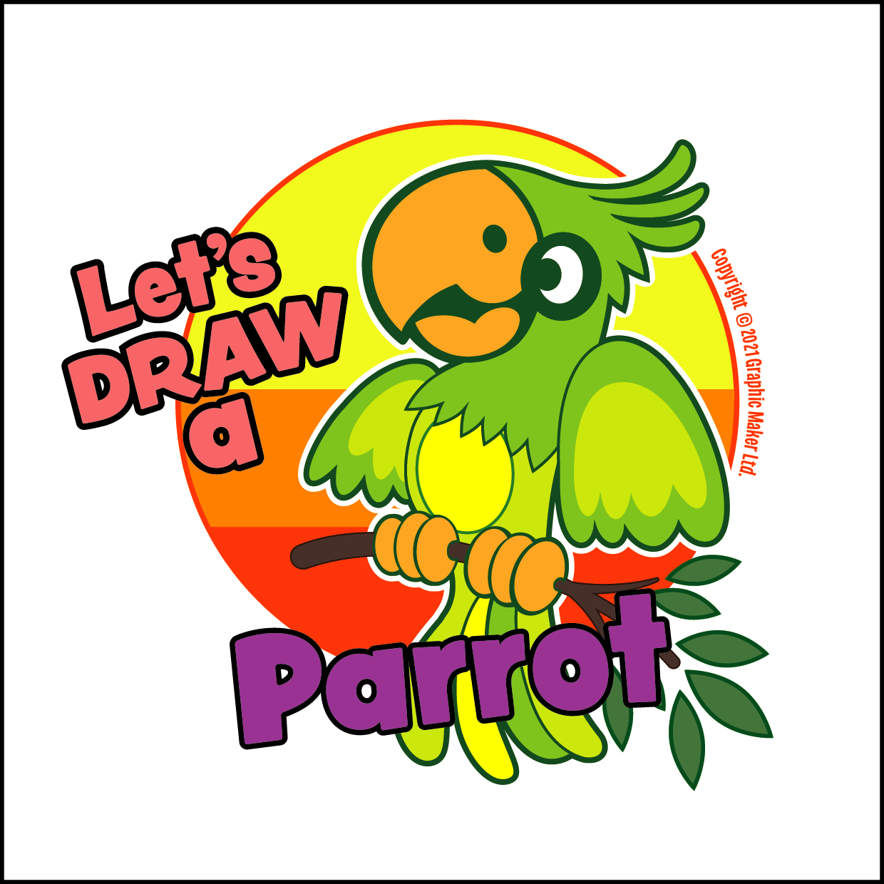 Let's DRAW A Parrot