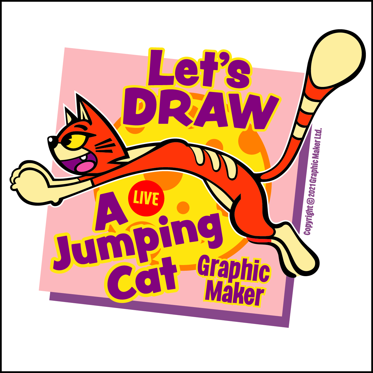 Let's DRAW A Jumping Cat